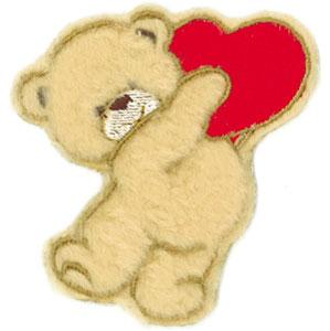 Pin patron du coeur on pinterest - Coeur nounours ...