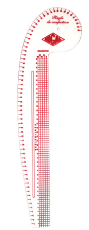 Règle de confection courbe 65cm
