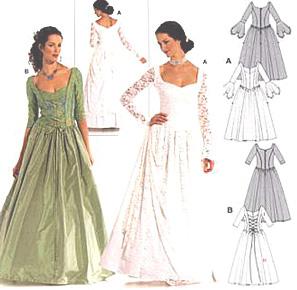 Patron couture robe soiree burda