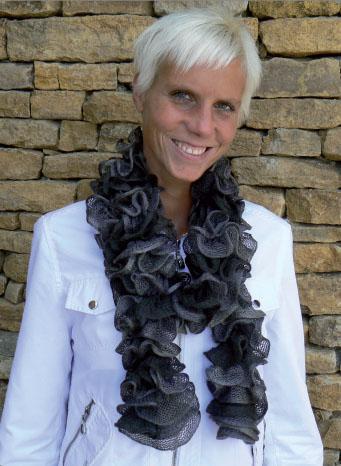 tricoter une echarpe a la mode. Black Bedroom Furniture Sets. Home Design Ideas