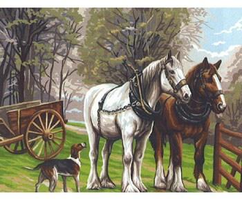canevas chevaux royal paris
